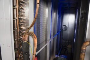 Große Wärmetauscherflächen sichern mit Kompressoren aus Deutschland eine hohe Abrocknung und Anwärmung.